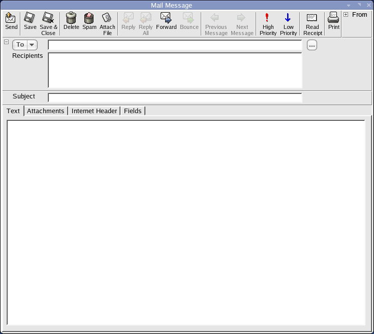 Scribe Email Client A Mail Window ...